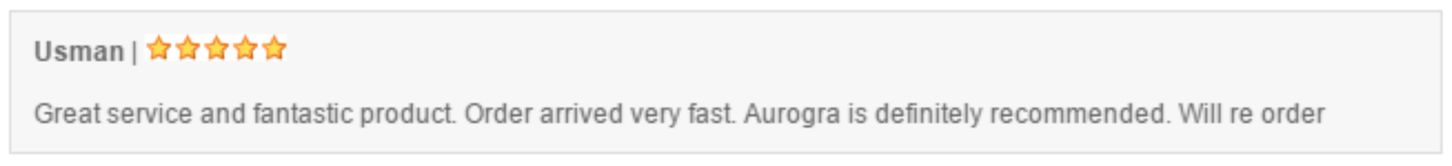 Generally speaking, Aurogra reviews are positive, and a negative review doesnt necessarily mean the product is bad