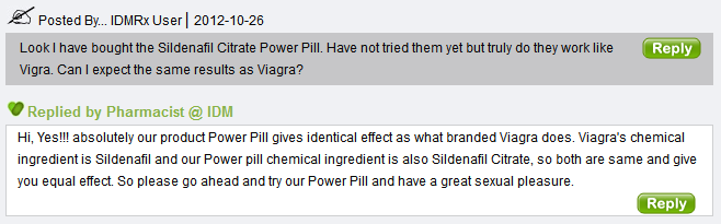One user asked about how many Power Pill 100 tablets should he take and also asked if the drug works in general